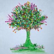 Abundance of Life (Garden Tree), Acrylics