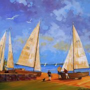 Art 'Yachts at Clontarf'