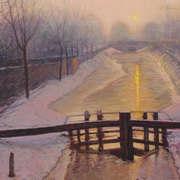 Royal Canal - Winter Sundown