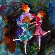Dancers, Mixed Media