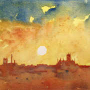 Art 'Sunset Over Kilkenny'