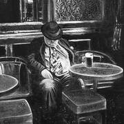Irish art. Snoozing In Nearys, artist Kelly Hood, England and Kerry