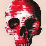 Strawberries and Cream Skull