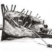 Wreck At Bunbeg Strand