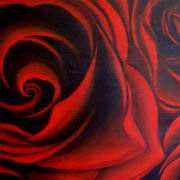 Irish Art, Red Roses,