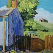 Cottage Gable and Garden, Ballylumford, Islandmagee, County Antrim