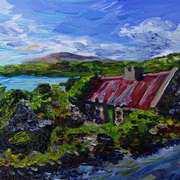 Deserted Roadside Cottage Galway.
