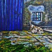 Ewe and Lambs on the Carrickfergus Road, near Glynn, Larne