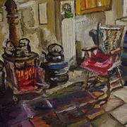 Kitchen Fireside, Drumnahunshin Farmhouse, Cultra