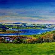 Larne Lough from Knowehead, Kilcoan