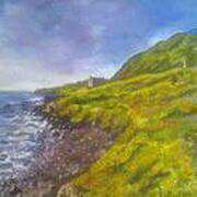 Memorial on the Antrim Coast