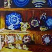 Sunlit Kitchen Dresser, Cottage Interior, Portavogie, County Down