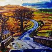 Winter Road Scene on the Sallagh Braes, Larne, County Antrim