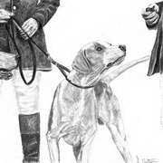 Irish Art, Master and hounds,