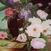 Irish art. Floral Display, artist Linda Carol Thompson, Louth