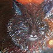 Irish art. Lynx, artist Linda Carol Thompson, Louth