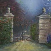 Irish art. Open Gate, artist Linda Carol Thompson, Louth