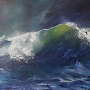 Irish Art, Night Wave,