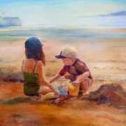 Children on Skerries Beach