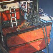 Orange Fishing Boat Fenit