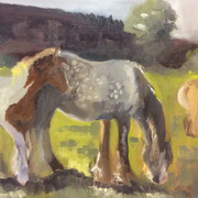 Art 'Grey Mare with Skewbald Foal 1'