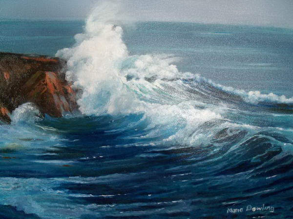 how to draw realistic crashing waves