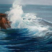 Irish Art, Crashing Wave,