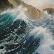 Irish Art, Rocky Coast,