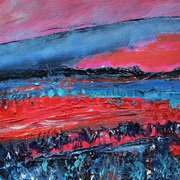 'Landscape In Red And Blue'