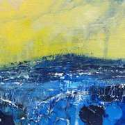 Seascape in Yellow And Blue