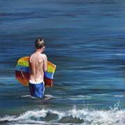 Irish Art, Waiting for the wave,