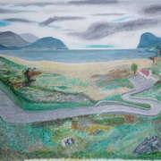 Irish art. Winding Road, artist Niall Clarke, Down