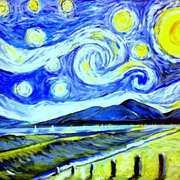Mournes Van Gogh style