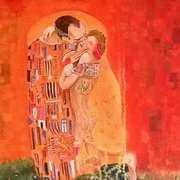 The kiss (Klimt) with a twist