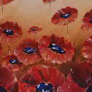 Irish Art, Poppies,