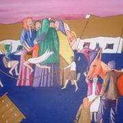 The Orange Donkey At Cross