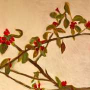 Still Life of Quince Branch
