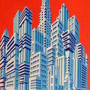 Irish art. Building Blocks, artist Paddy Duffy, Dublin