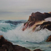 Atlantic Wave 24x30 Oil on canvas