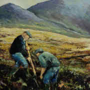Turf Cutting Carrick Co.Donegal
