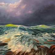 Irish Art, Storm at the Cliffs,