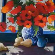 Irish Art, Poppies and Pears,