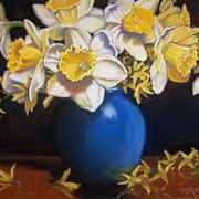 Irish Art, Vase of Daffodils,
