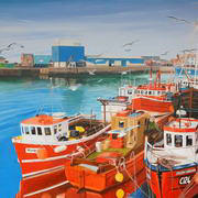 Fleet at Anchor Howth
