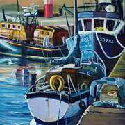 Art 'Boats at Buncrana Pier Co Donegal'