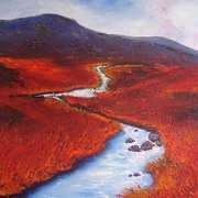 Glenmacnass River towards Barnacullion Ridge