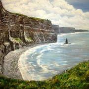 Irish art. Cliffs Of Moher, artist Pauline McCarville, Dublin