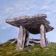 Irish art. Dolmen The Burren, artist Pauline McCarville, Dublin