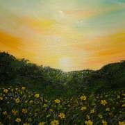 Irish art. Golden Sunset, artist Pauline McCarville, Dublin