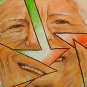 Irish art. Michael D The Heart Of Ireland, artist Pauline McCarville, Dublin